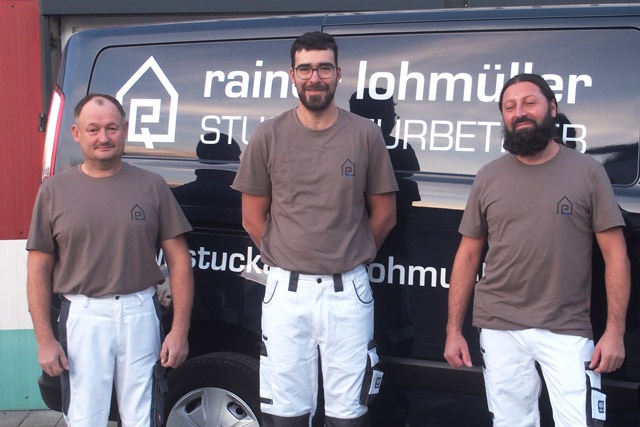 Team des Rainer Lohmüller Stuckateurbetriebs